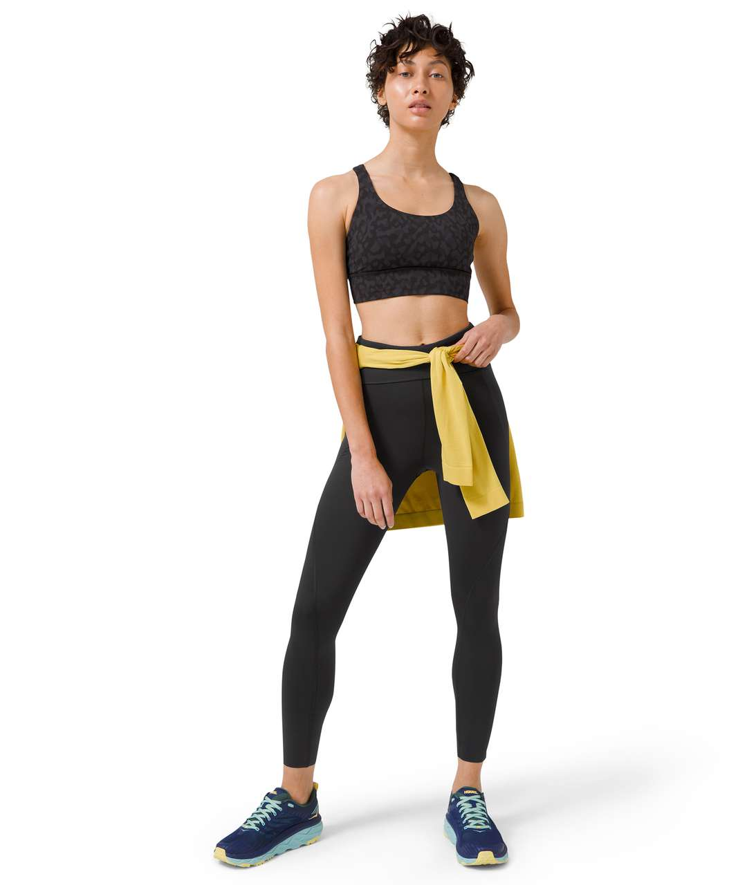 "Lululemon Free to Speed High-Rise Tight 25"" - Black"