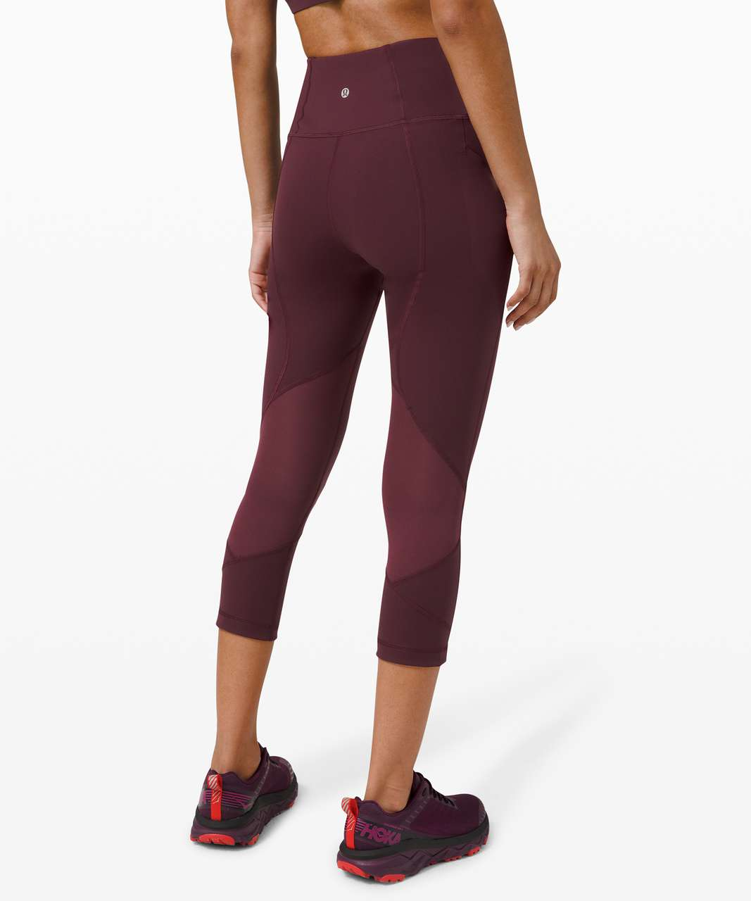 "Lululemon Pace Rival High-Rise Crop 22"" - Cassis"