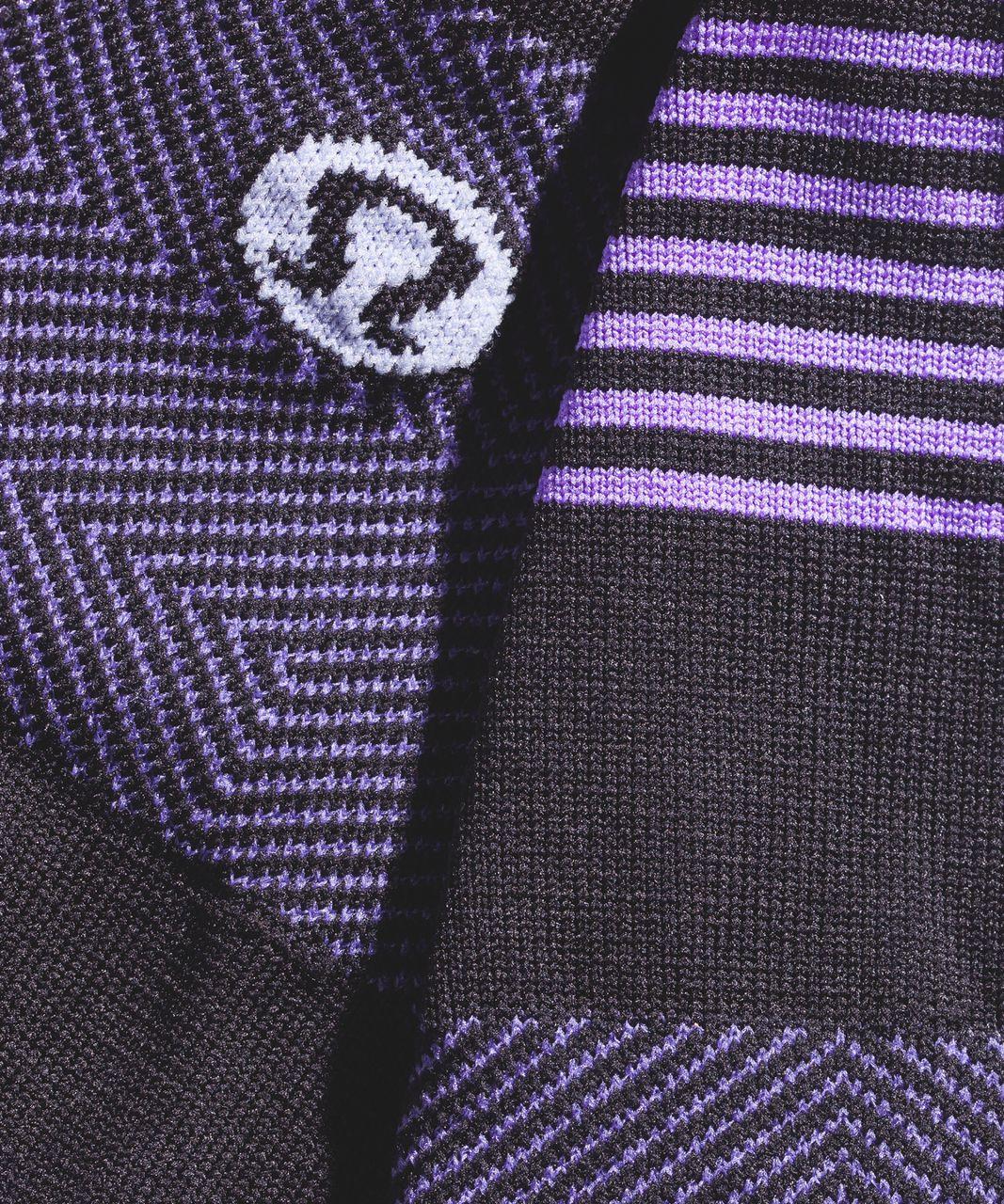 Lululemon Secret Sock - Power Purple / Black / Lavender Dusk