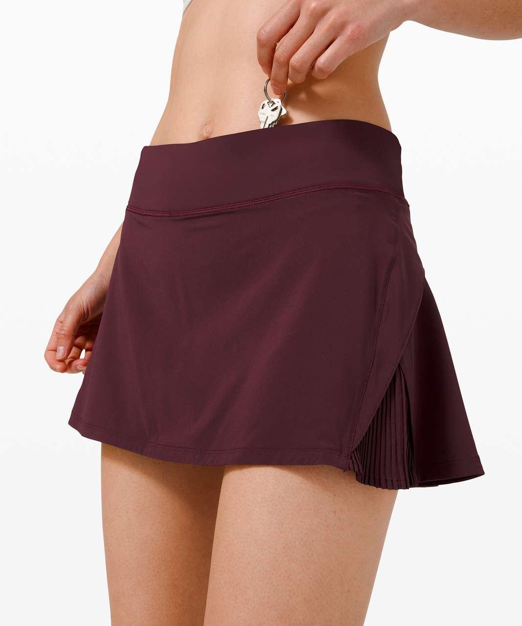 "Lululemon Play Off The Pleats Skirt *13"" - Cassis"