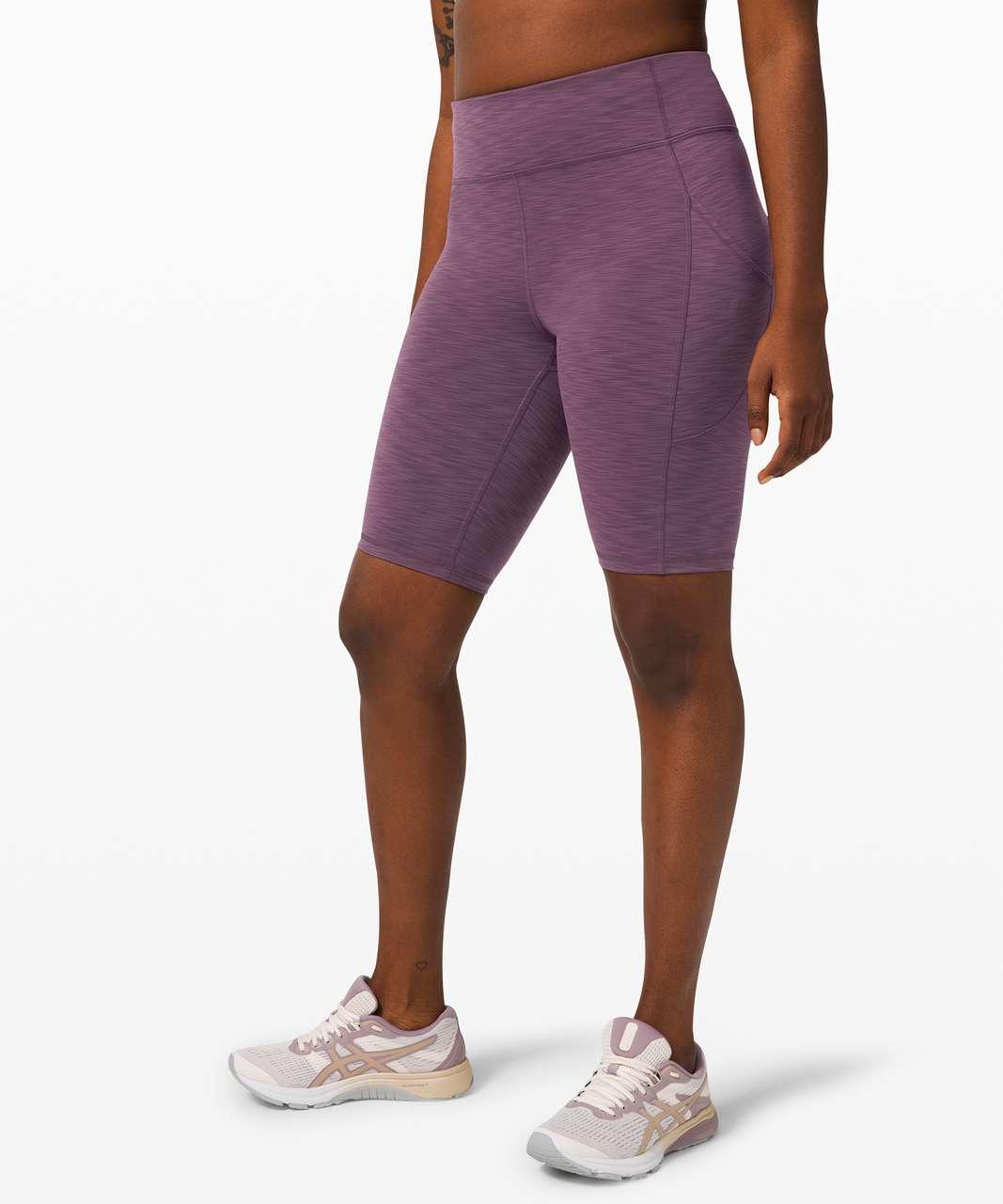 "Lululemon Invigorate High-Rise Short 10"" - Heathered Black Currant"