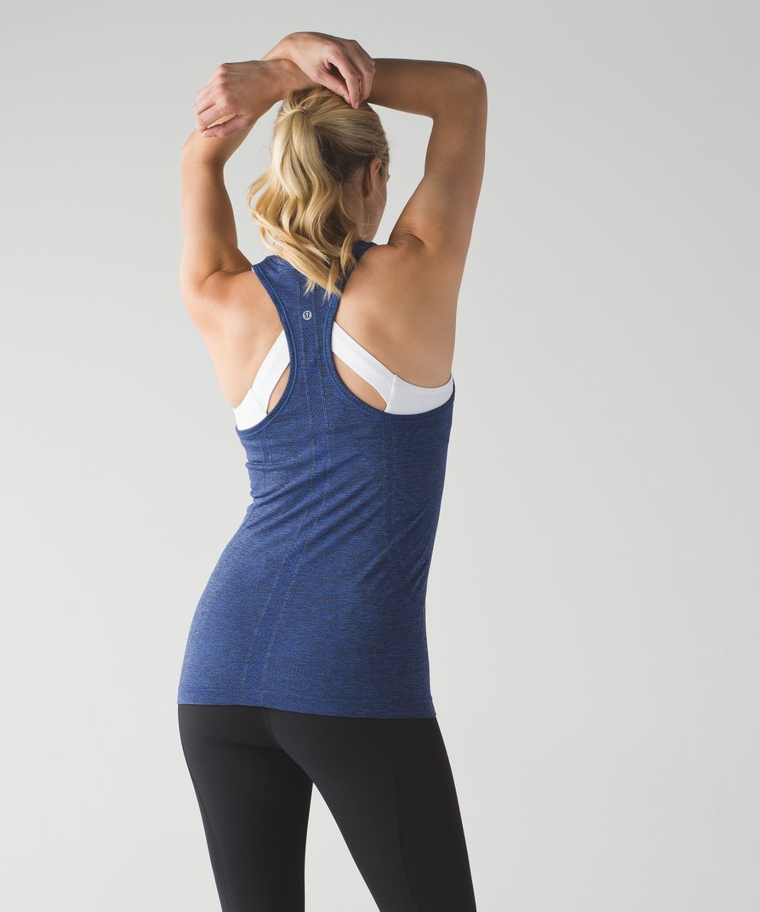 Lululemon Swiftly Tech Racerback - Black / Sapphire Blue