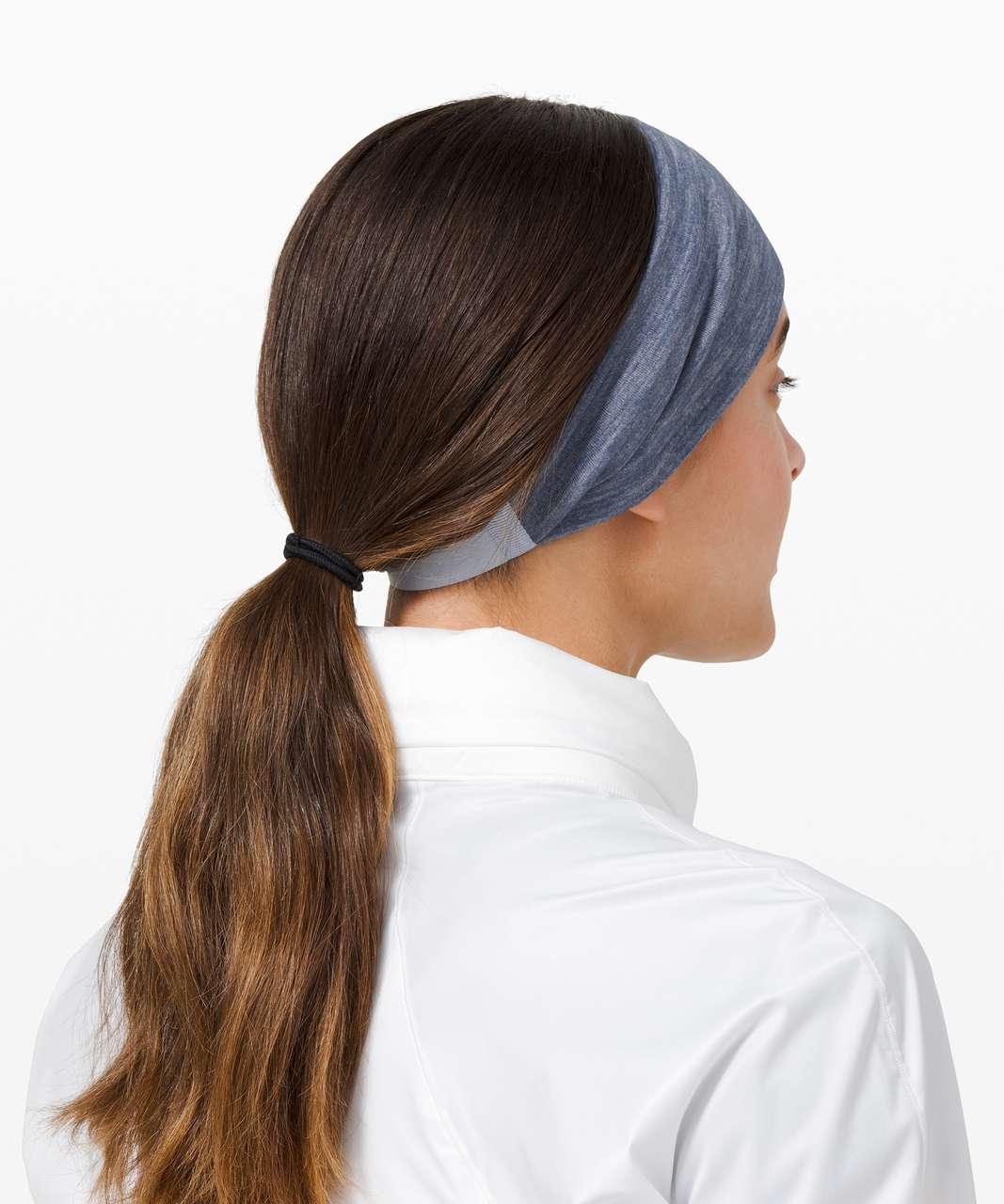 Lululemon Fringe Fighter Headband - Diamond Dye Daydream Ink Blue / Heathered Ink Blue