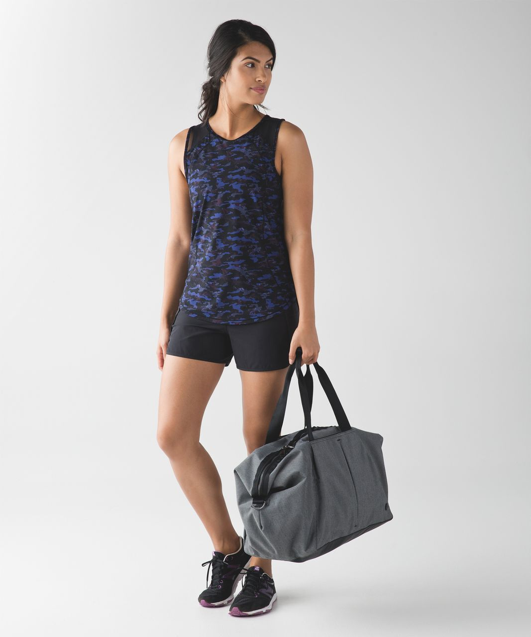 Lululemon Sculpt Tank - Mini Hounds Camo Emperor Blue Black / Black
