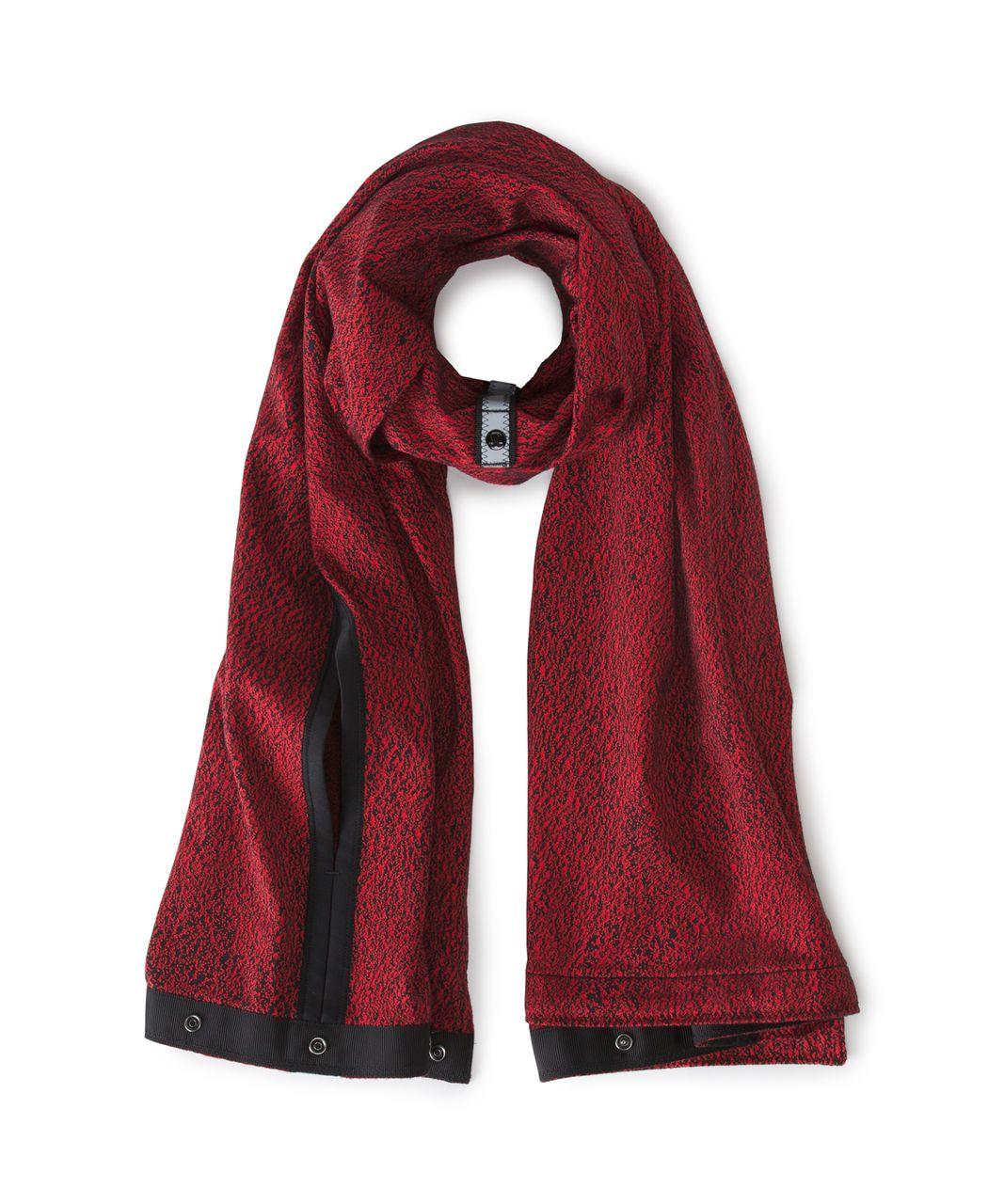 Lululemon Vinyasa Wrap - Running Luon Spray Jacquard True Red Black / Black