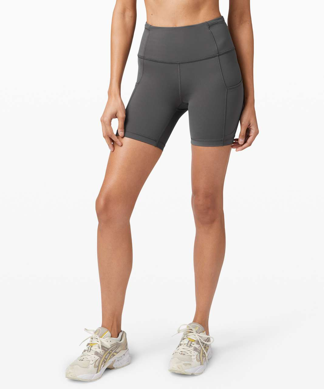 """Lululemon Fast and Free Short 6"""" *Non-Reflective - Graphite Grey"""