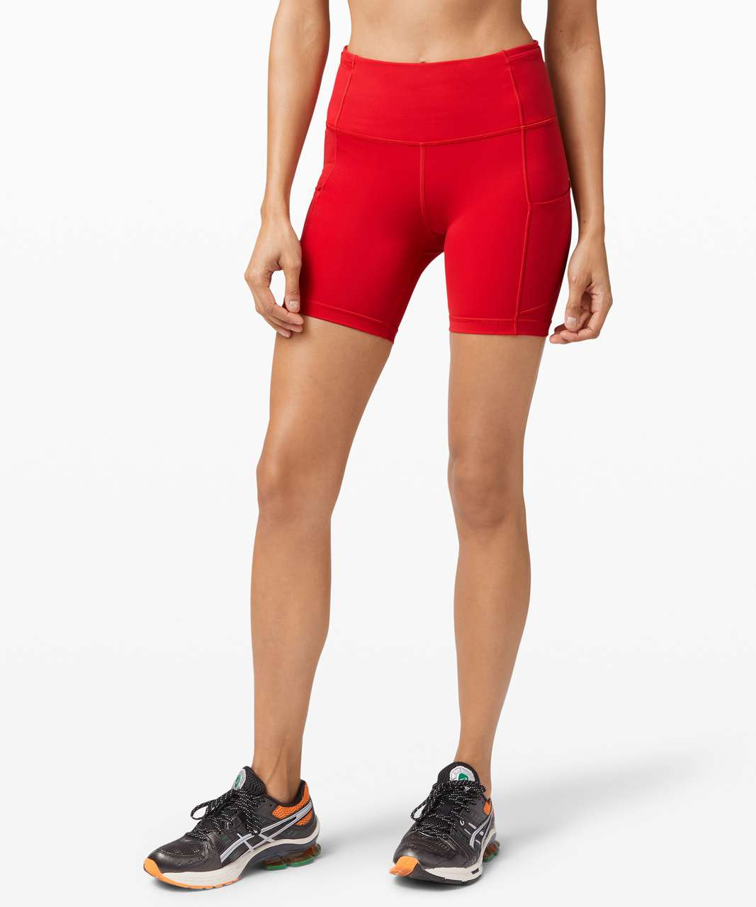 """Lululemon Fast and Free Short 6"""" *Non-Reflective - Dark Red"""