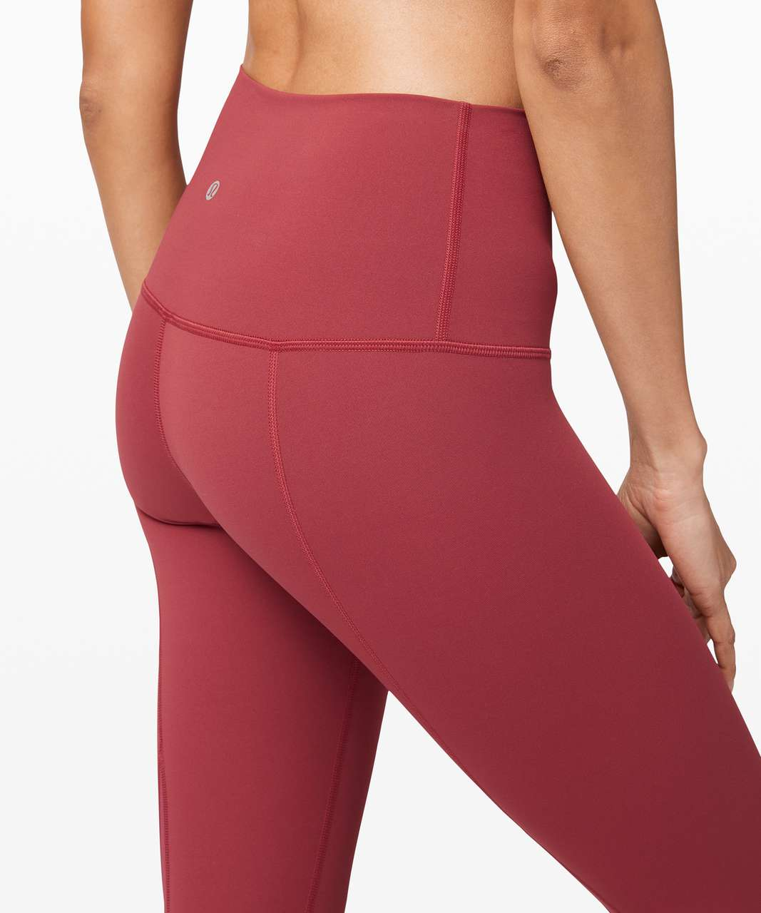 """Lululemon Wunder Under Crop High-Rise *Roll Down Scallop Full-On Luxtreme 23"""" - Chianti"""