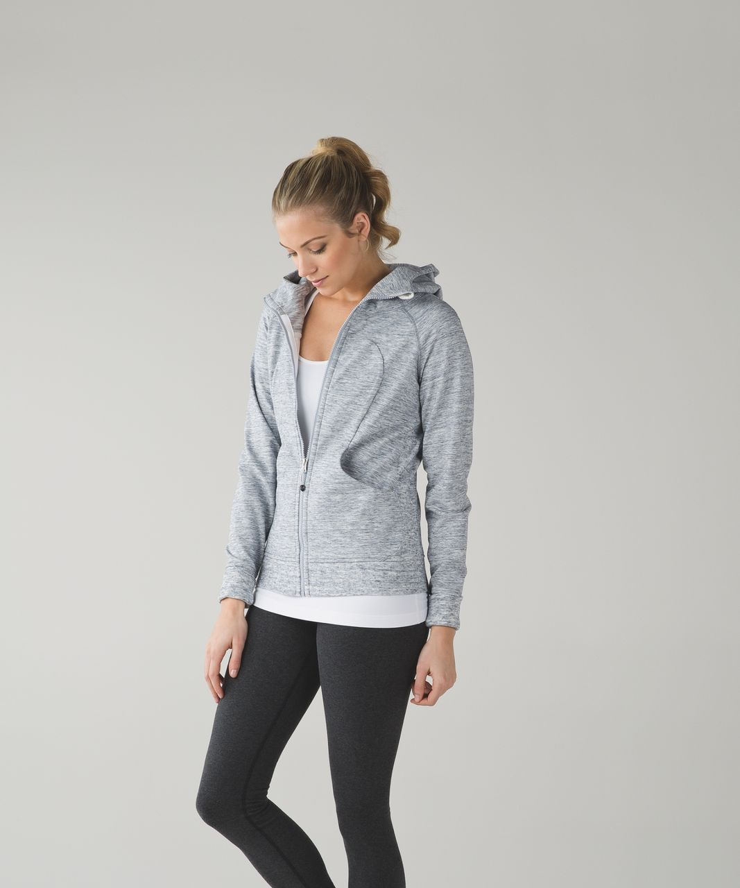 Lululemon Scuba Hoodie III - Heathered Space Dyed Gris