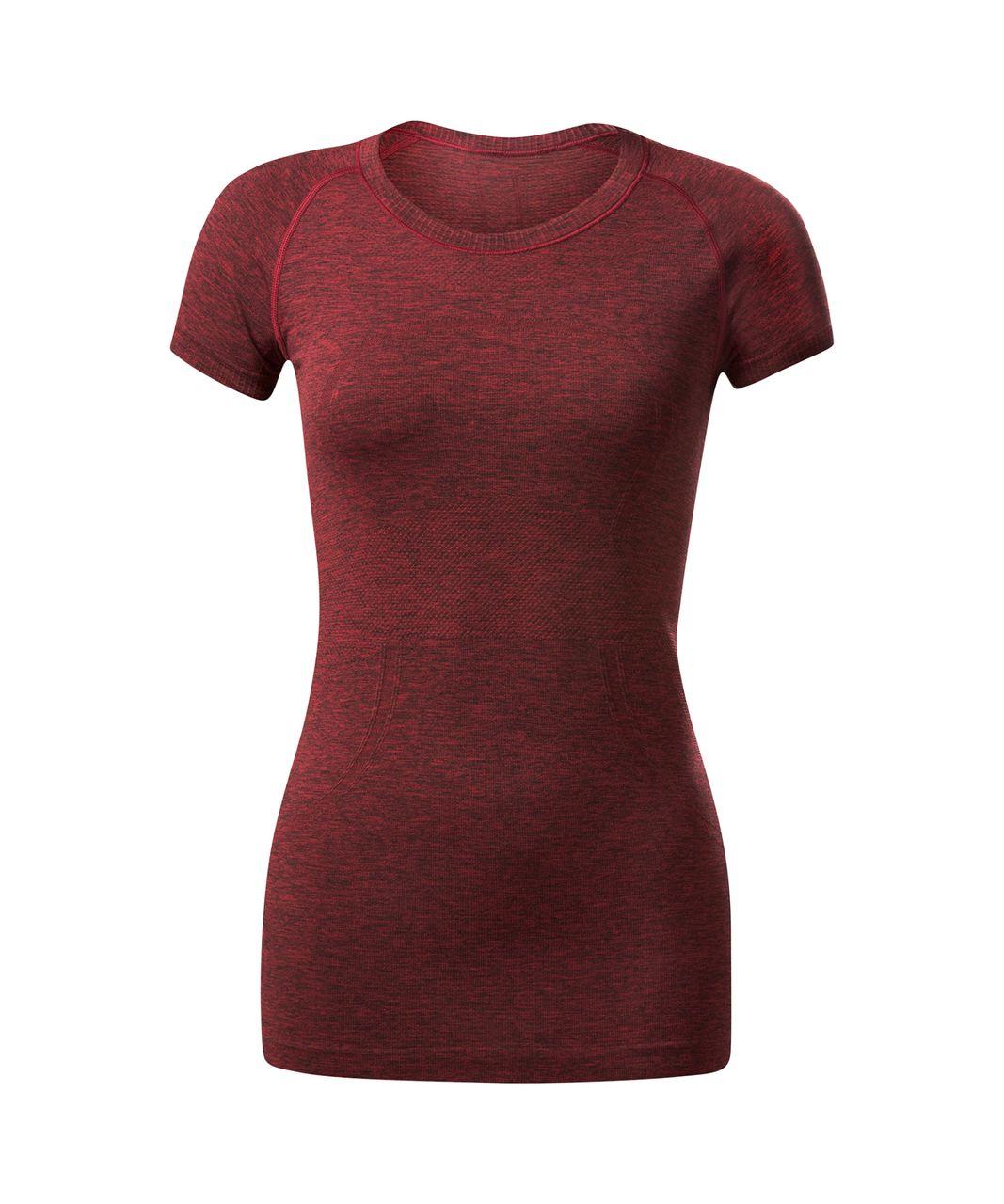 Lululemon Swiftly Tech Short Sleeve Crew - Black / True Red