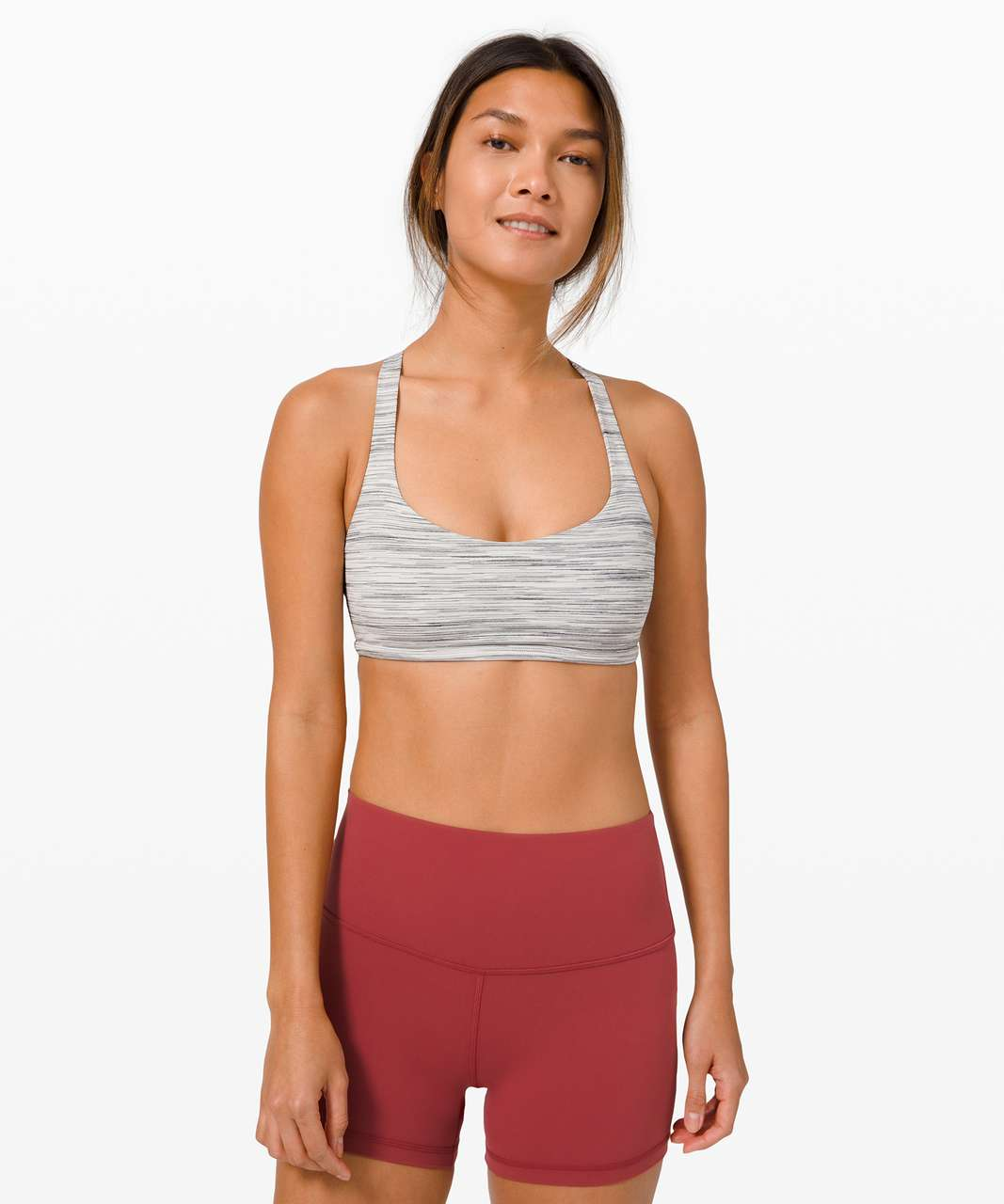 Lululemon Free To Be Bra Wild *Light Support, A/B Cup - Space Dye Camo White Silver Spoon