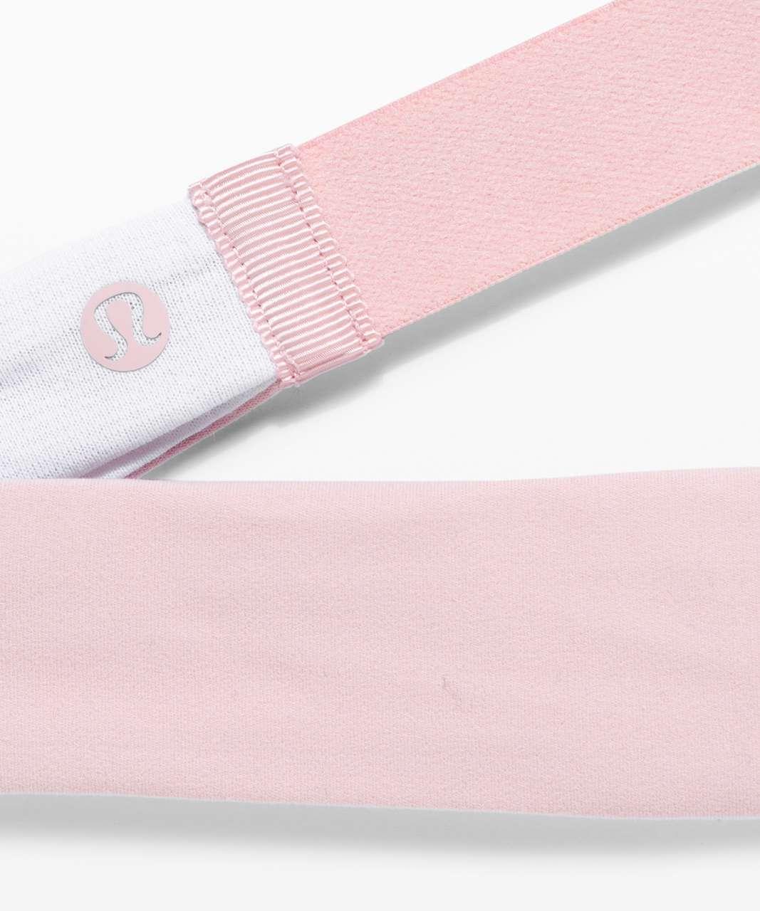 Lululemon Fringe Fighter Headband - White / Misty Pink