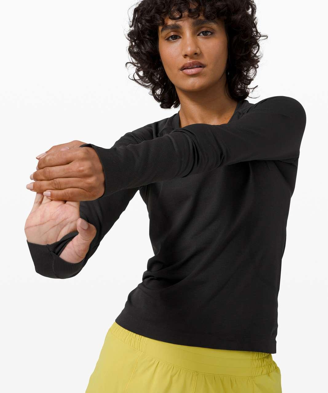 Lululemon Swiftly Tech Long Sleeve 2.0 *Race - Black / Black