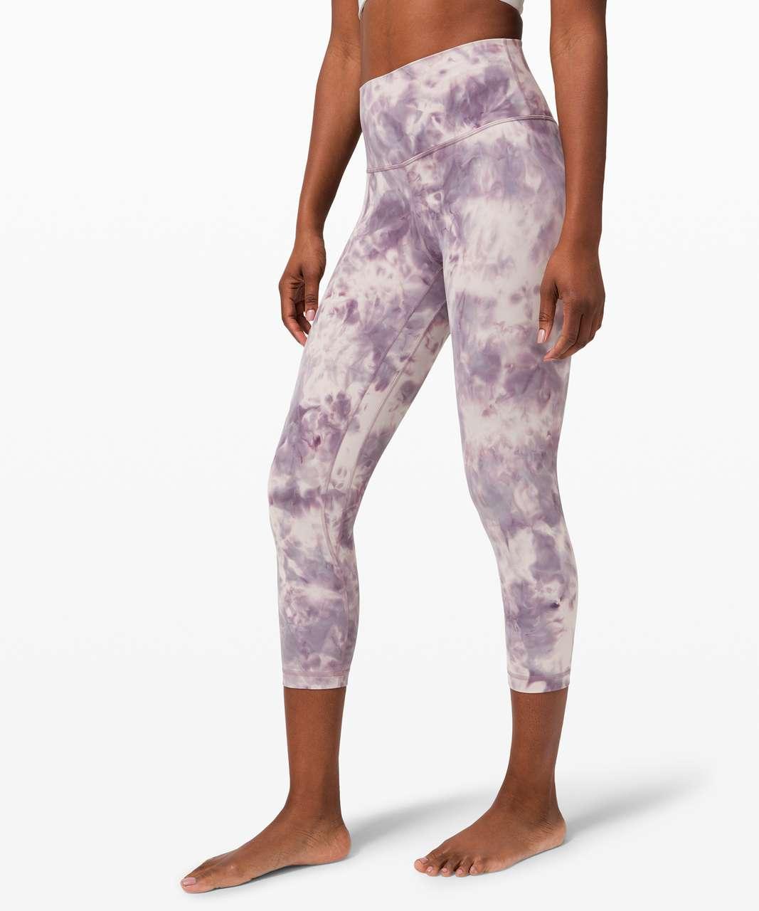 "Lululemon Align Crop 21"" *Diamond Dye - Diamond Dye Pink Bliss Graphite Purple"
