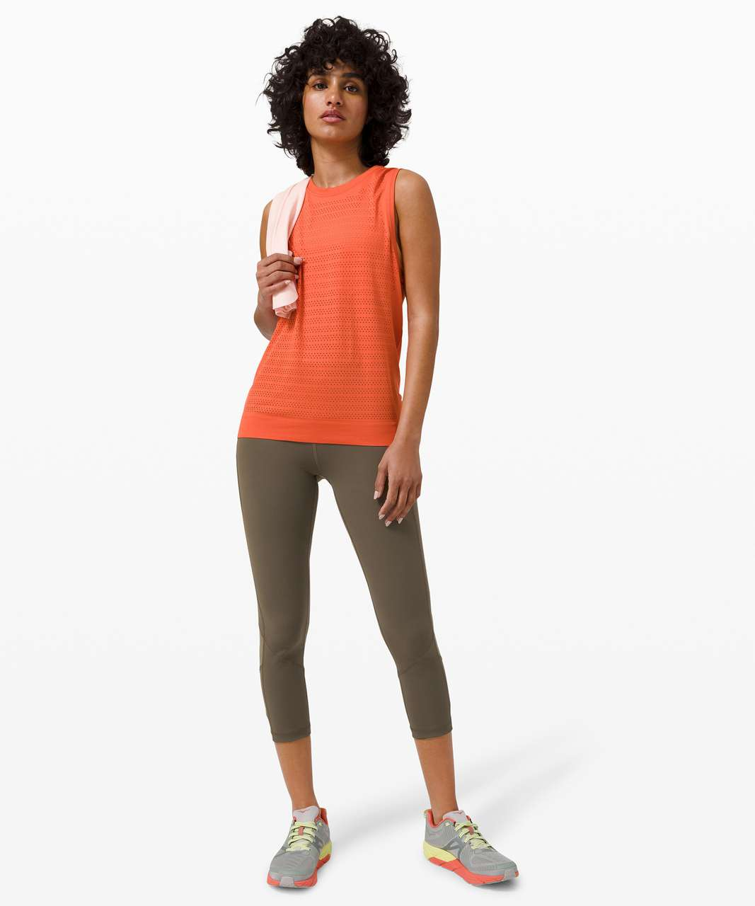 """Lululemon Pace Rival High-Rise Crop 22"""" - Dark Olive"""
