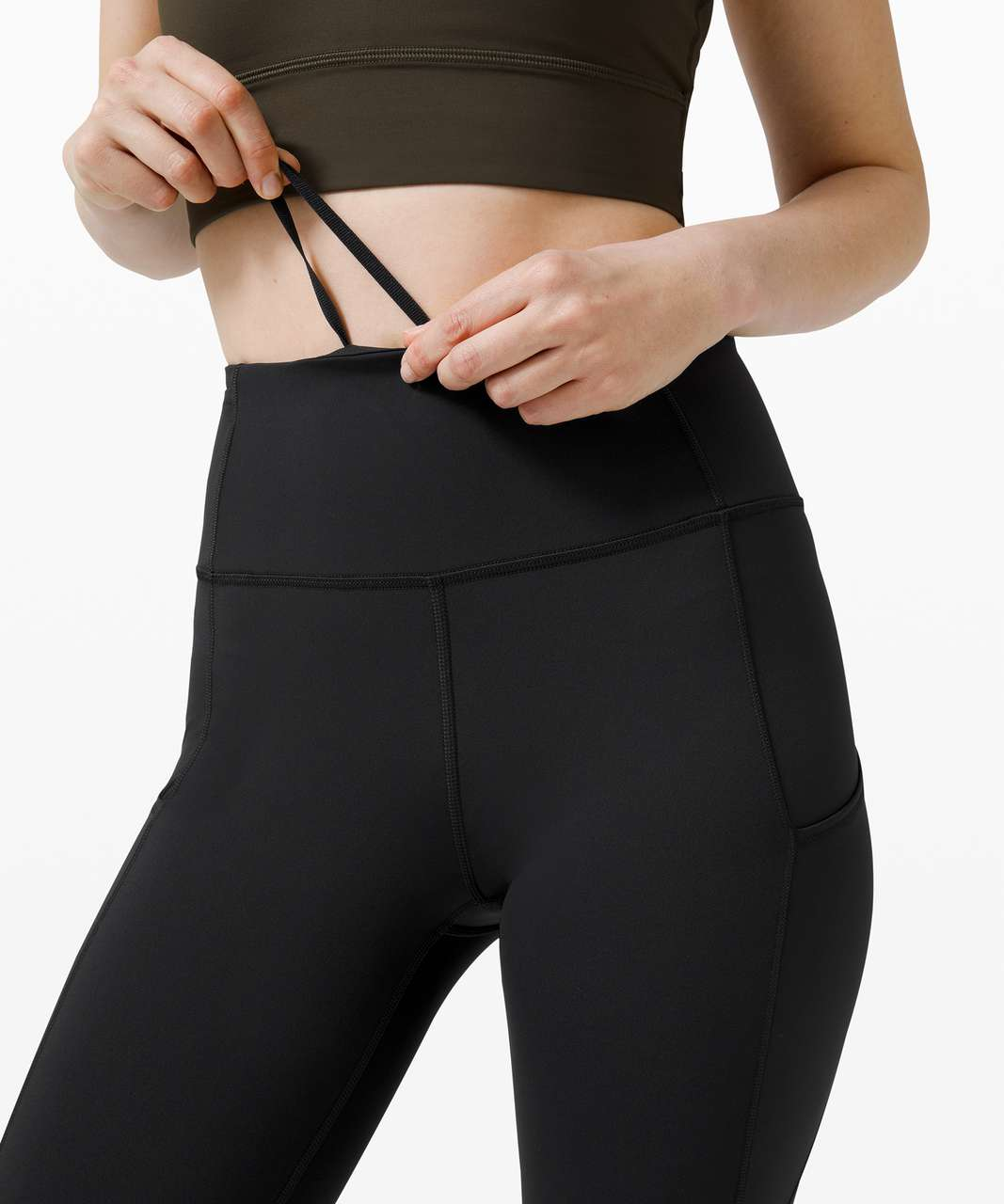 """Lululemon Fast and Free Crop II 19"""" *Non-Reflective - Black"""