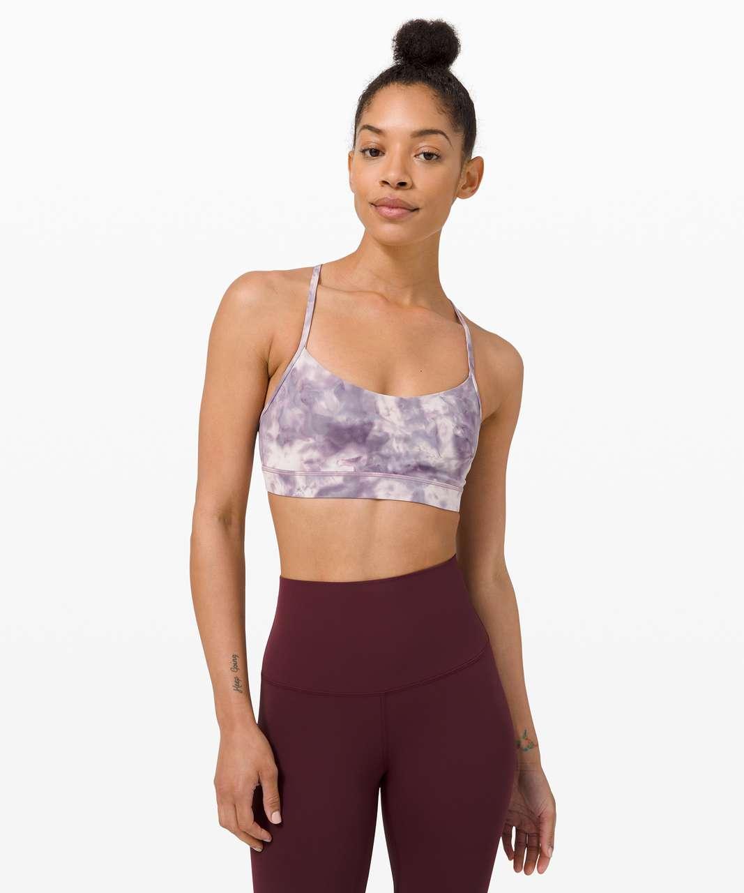 Lululemon Flow Y Bra Nulu *Light Support, B/C Cup - Diamond Dye Pink Bliss Graphite Purple