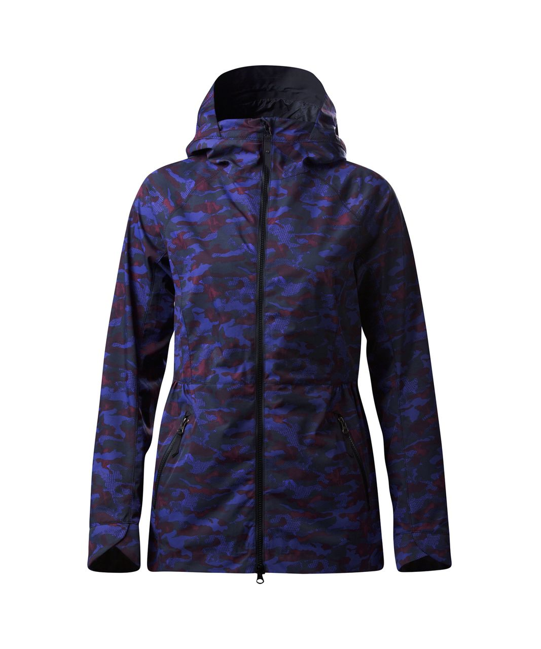 Lululemon Rain For Daze Jacket II - Hounds Camo Emperor Blue Black