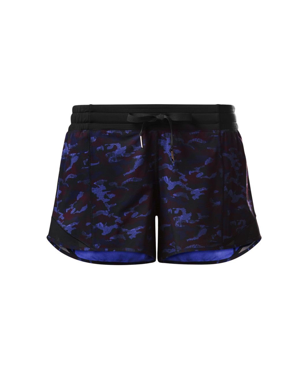 Lululemon Hotty Hot Short (Long) - Mini Hounds Camo Emperor Blue Black / Black