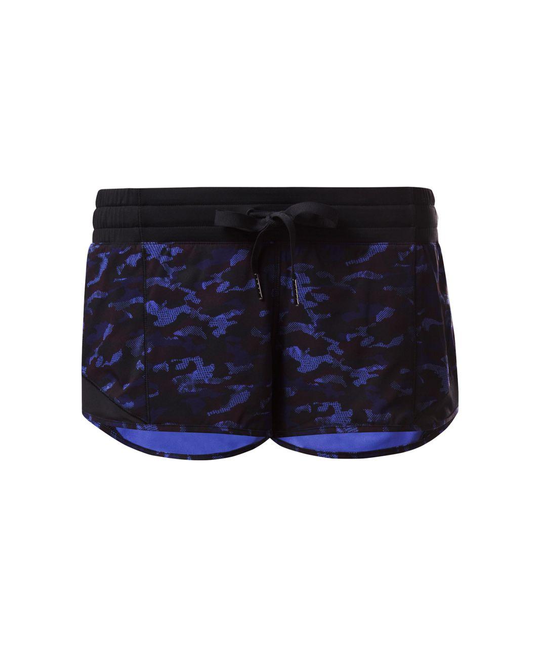 Lululemon Hotty Hot Short - Mini Hounds Camo Emperor Blue Black / Black
