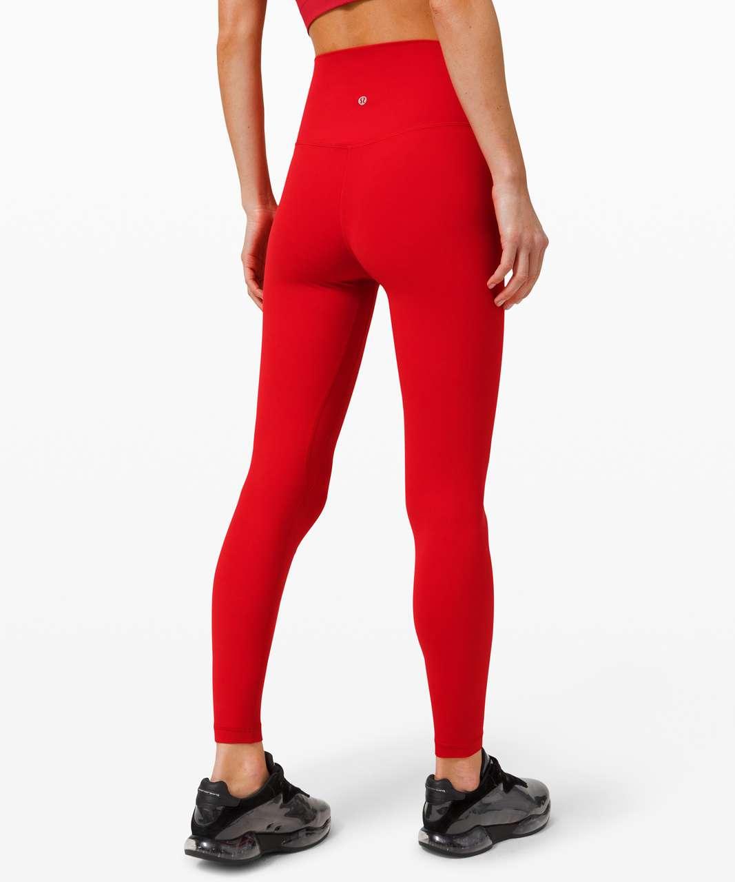 "Lululemon Align Pant 28"" - Dark Red"