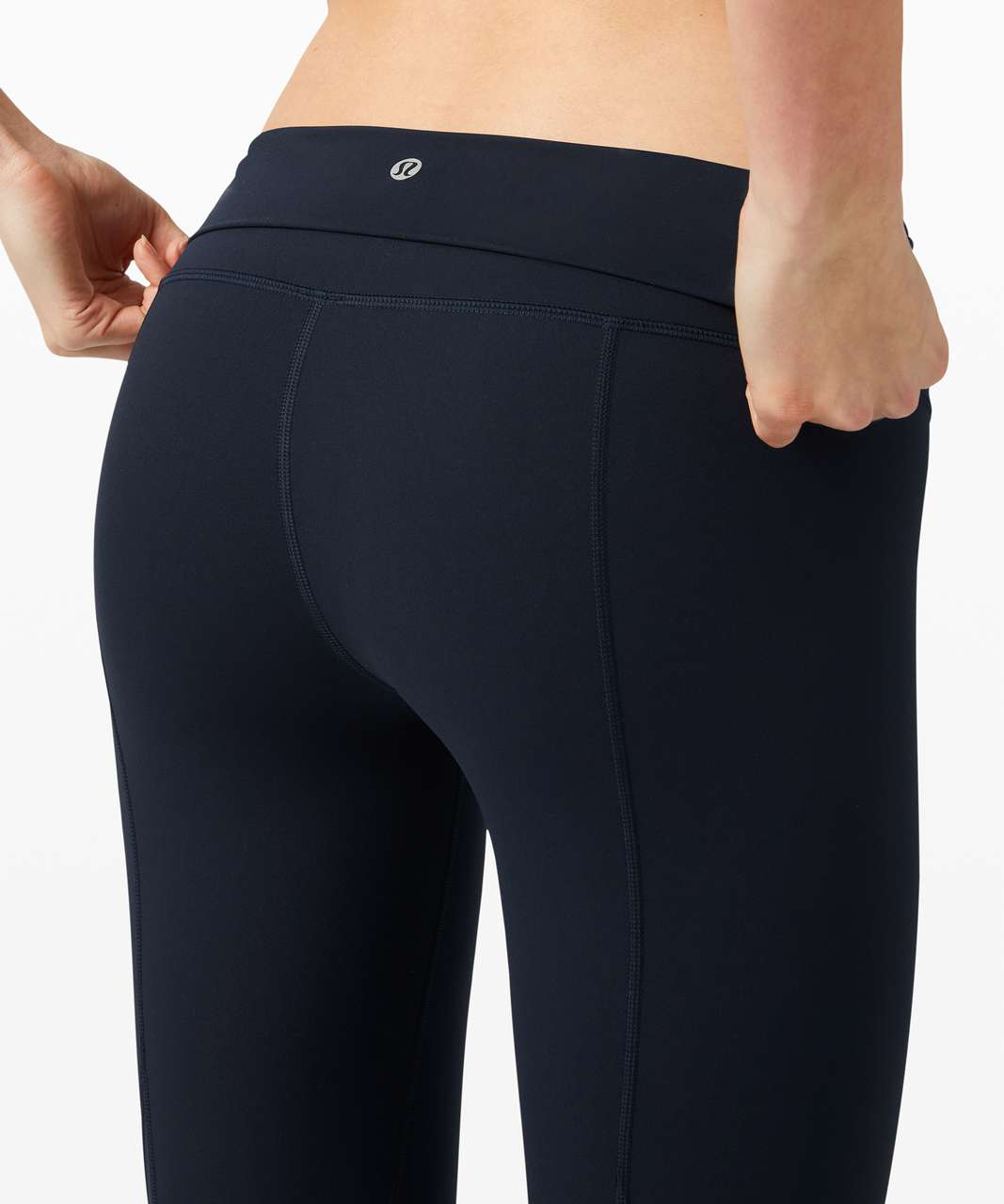 "Lululemon Wunder Under Crop High-Rise *Roll Down Scallop Full-On Luxtreme 23"" - True Navy"