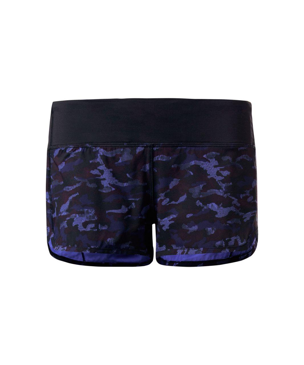 Lululemon Speed Short - Mini Hounds Camo Emperor Blue Black / Black