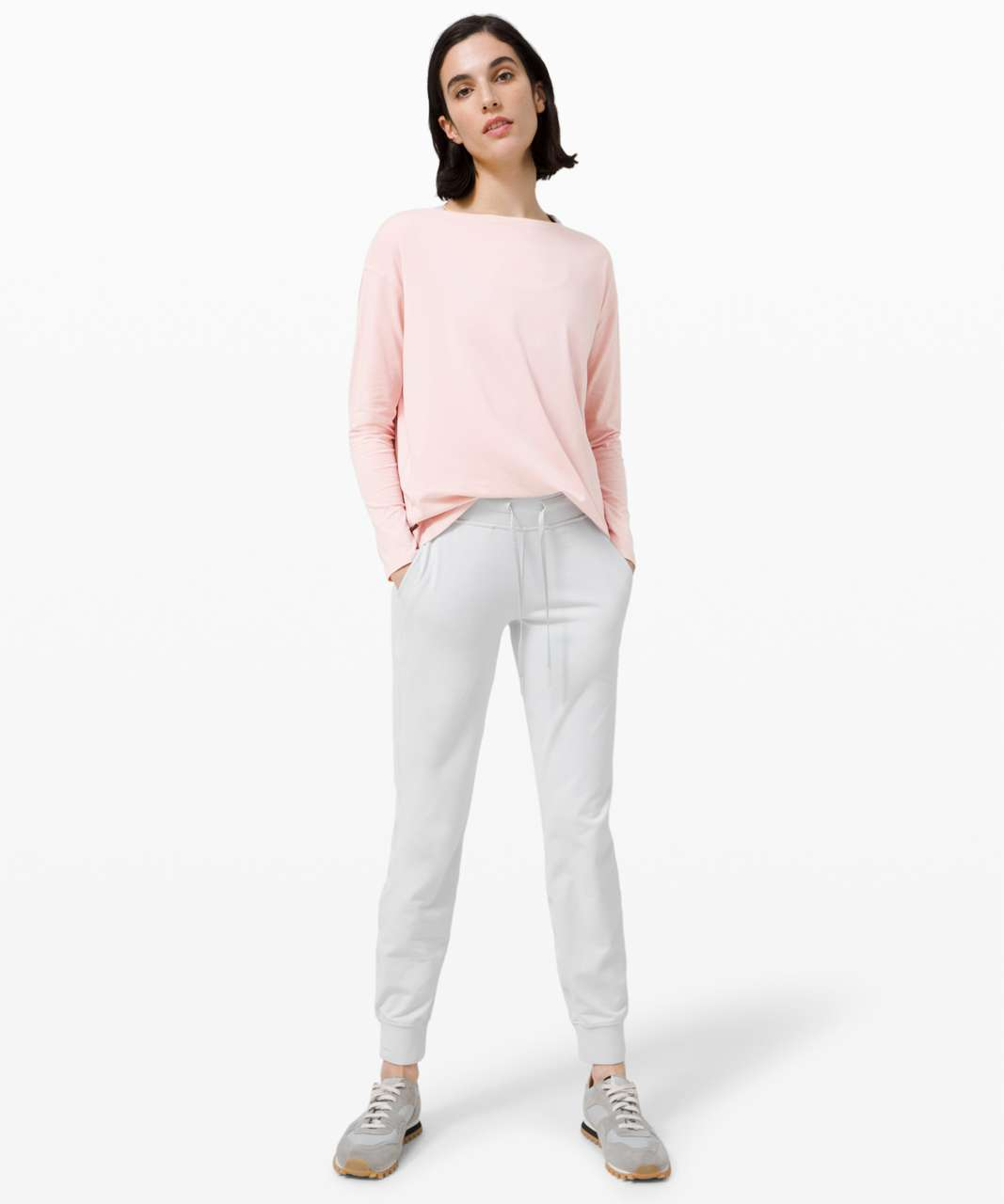 Lululemon Back In Action Long Sleeve - Misty Pink