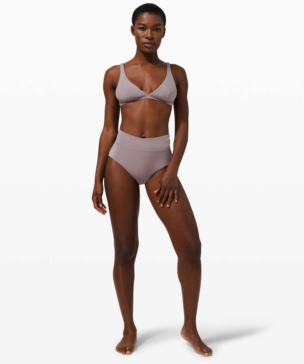 Lululemon All that Glimmers High Waisted Med Bottom - Lunar Rock / Pink Taupe