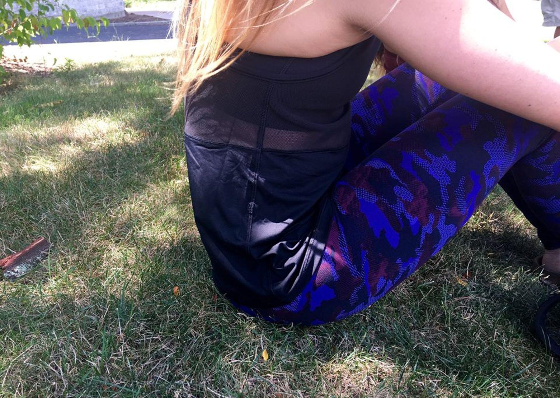 Lululemon High Times Pant - Hounds Camo Emperor Blue Black
