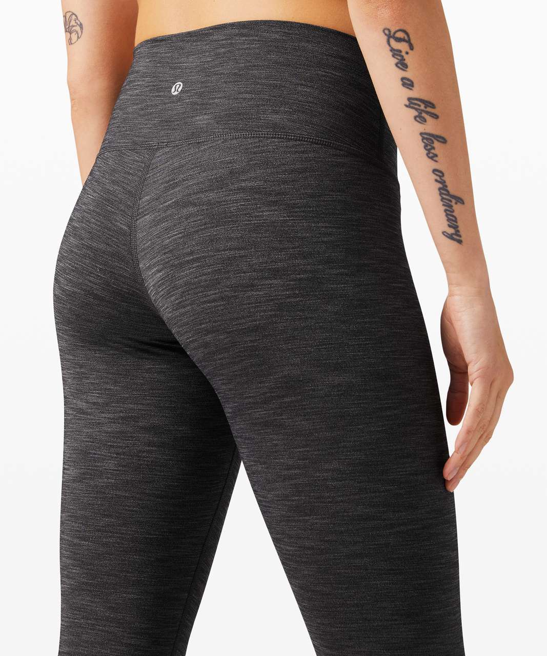 "Lululemon Wunder Under Crop High-Rise *Full-On Luxtreme 23"" - Heathered Black"