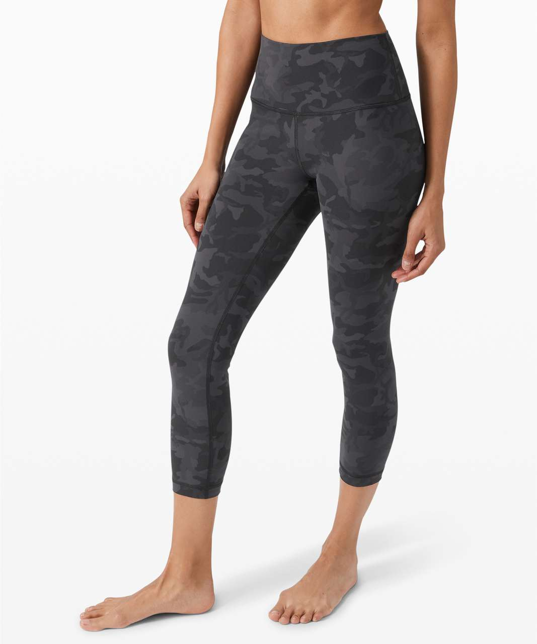 "Lululemon Wunder Under Crop High-Rise *Full-On Luxtreme 23"" - Incognito Camo Multi Grey"
