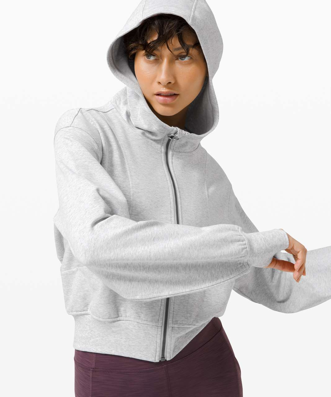 Lululemon Catch a Breath Zip Hoodie - Heathered Core Ultra Light Grey