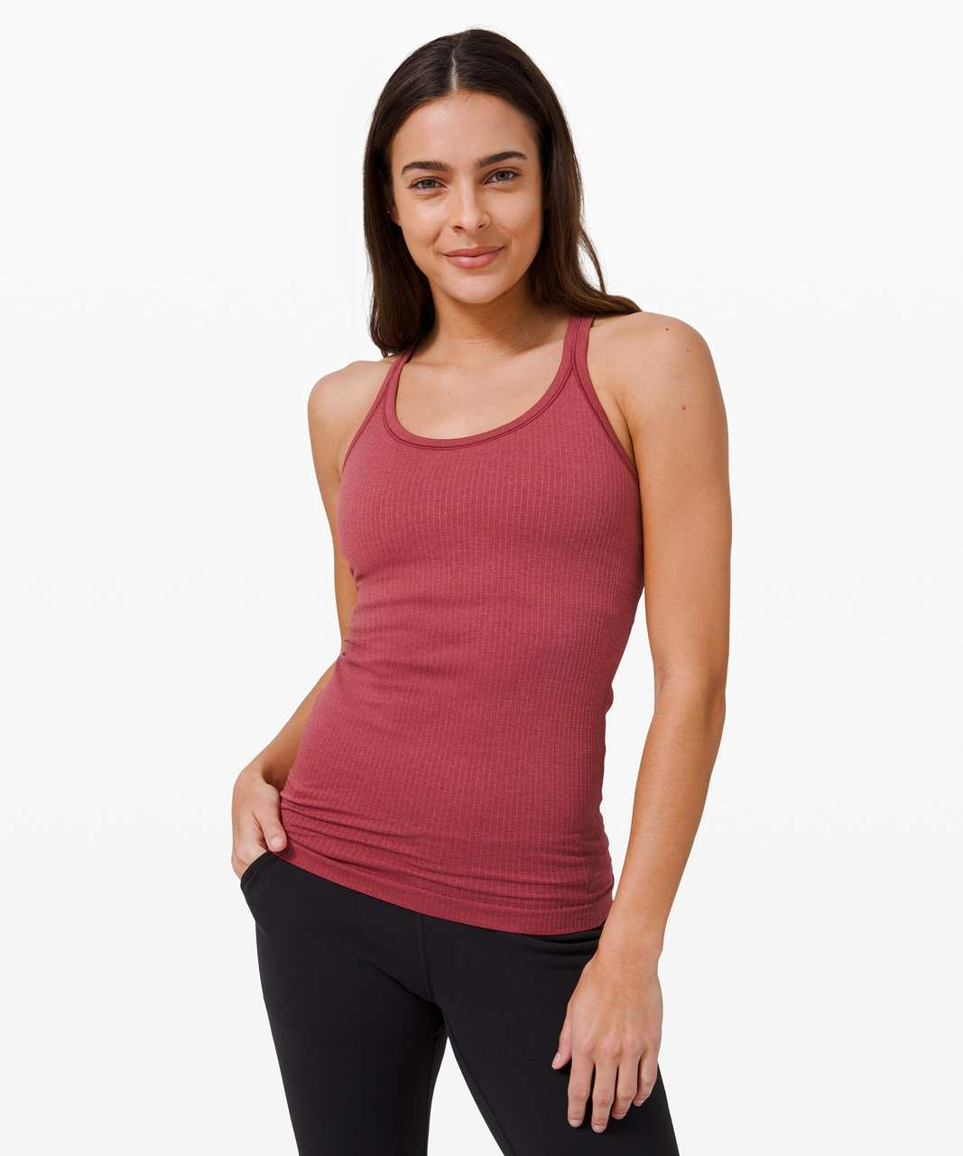 Lululemon Ebb To Street Tank *Light Support For B/C Cup - Chianti