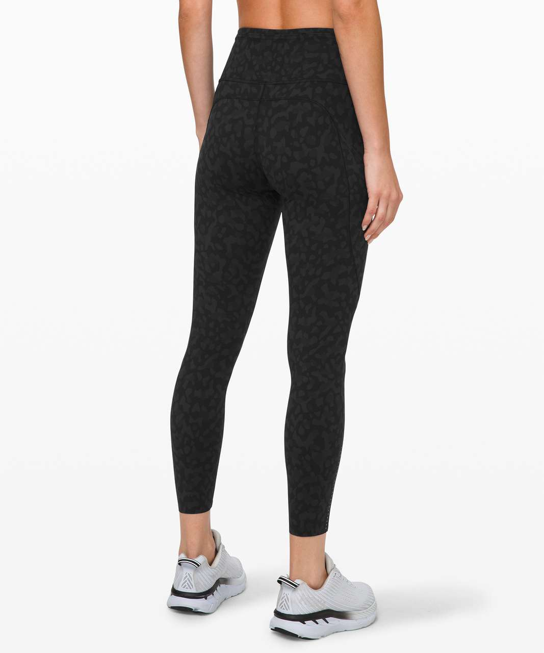 "Lululemon Fast and Free Tight II 25"" *Non-Reflective Nulux - Formation Camo Deep Coal Multi"