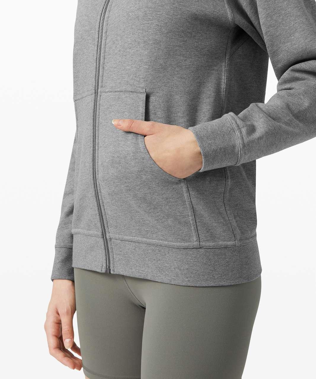 Lululemon All Yours Zip Hoodie *Terry - Heathered Core Medium Grey