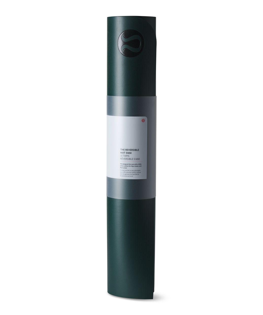 Lululemon The Reversible Mat 5mm - Deep Green / Hunter Green