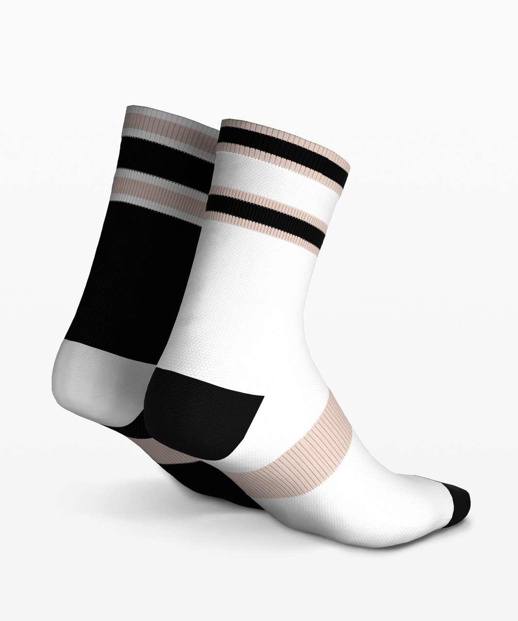 Lululemon Tale To Tell Quarter Sock *2 Pack - White / Black / Dune