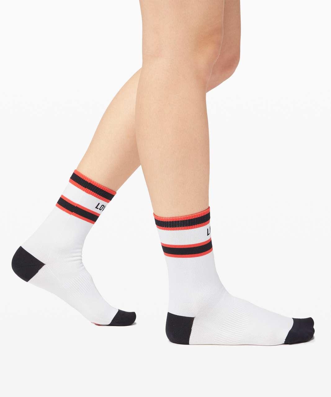 Lululemon Tale To Tell Quarter Sock *2 Pack - White / Black / Carnation Red