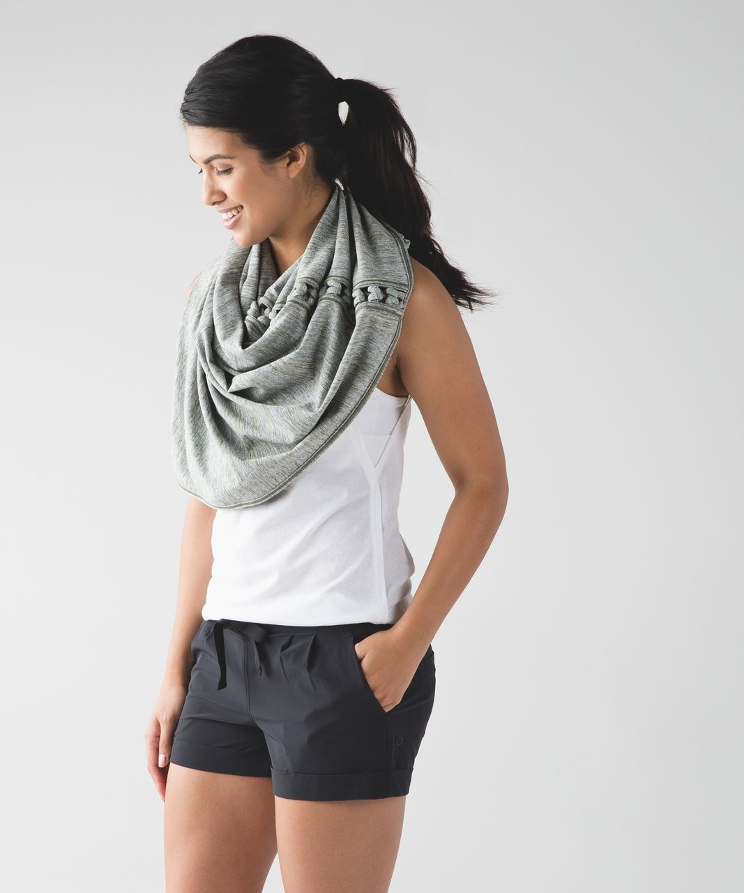 Lululemon Vinyasa Scarf (Braid) - Space Dye Camo Desert Olive Fatigue Green