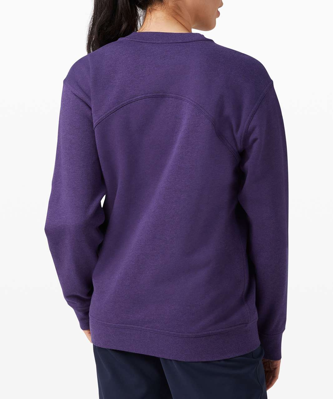 Lululemon All Yours Crew *Terry - Heathered Midnight Orchid