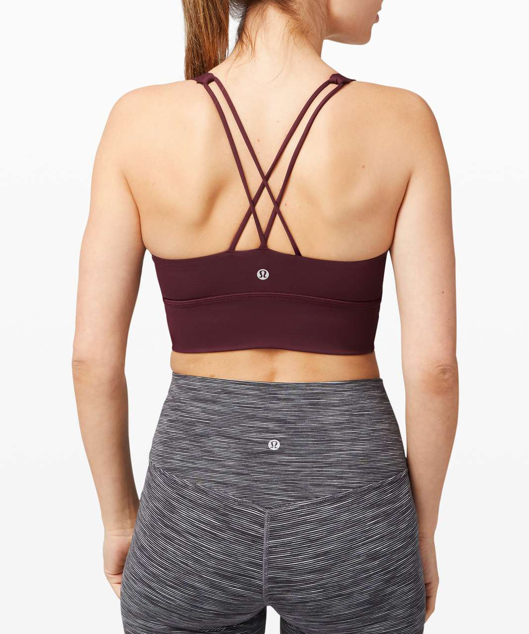 Lululemon Free To Be Bra Long Line *Light Support, A/B Cup (Online Only) - Cassis