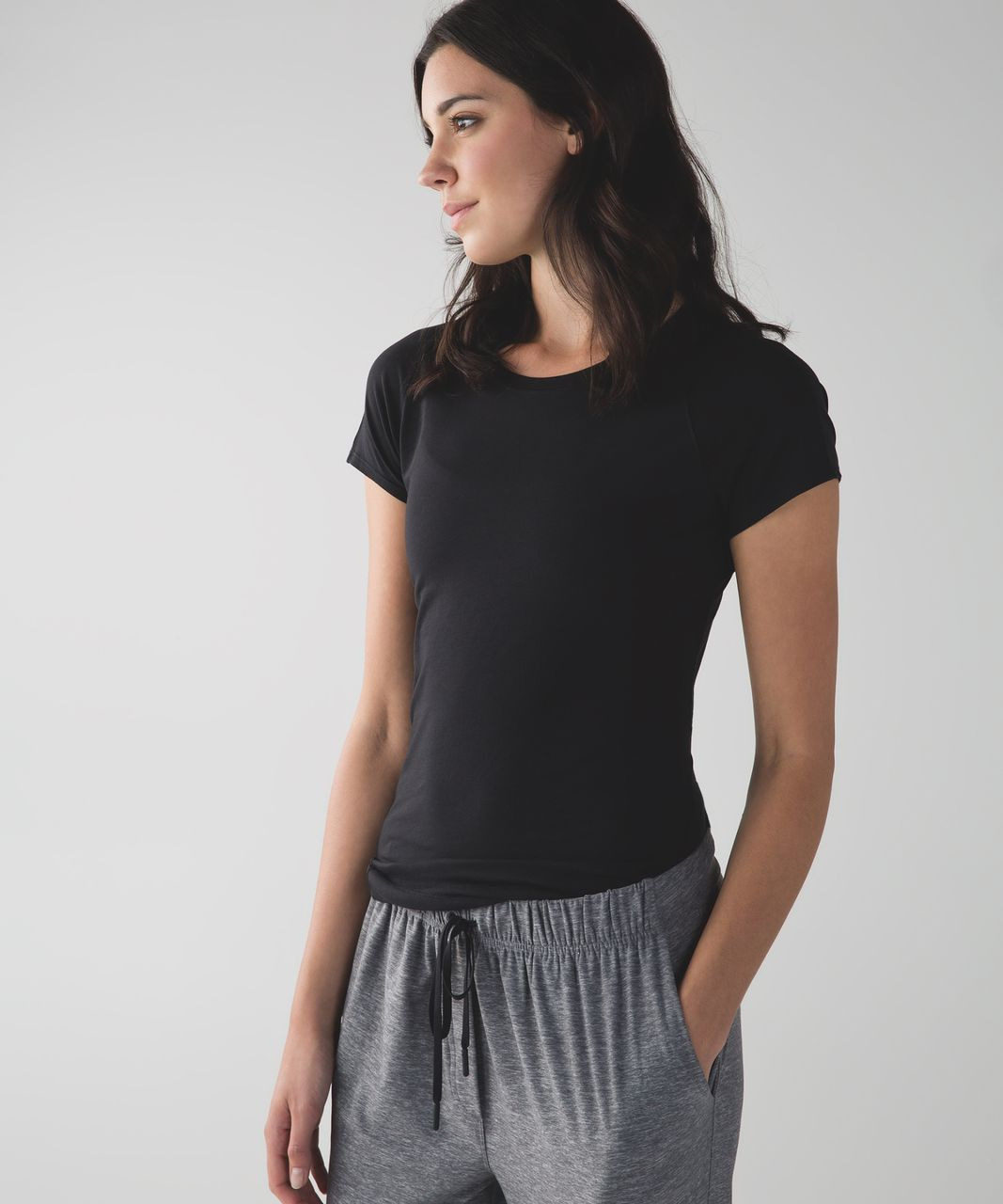 Lululemon Let Be Short Sleeve Tee - Black