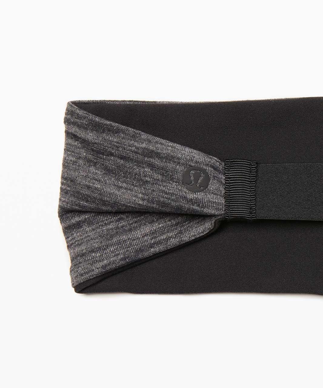 Lululemon Fringe Fighter Headband - Black / Heathered Black