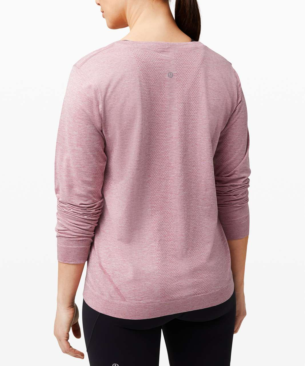Lululemon Swiftly Relaxed Long Sleeve 2.0 - Cherry Tint / White