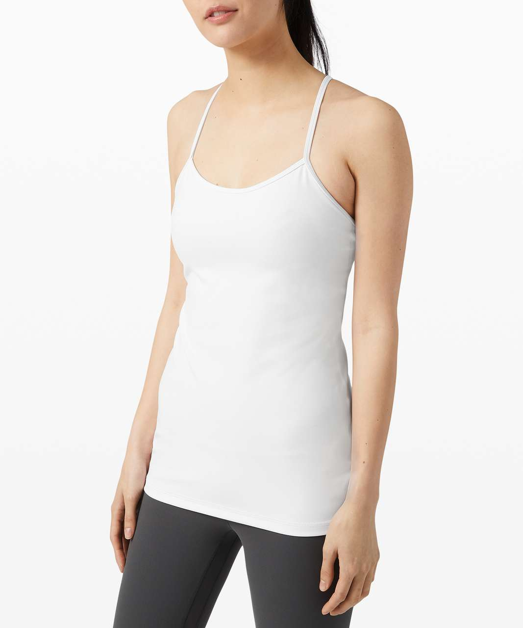 Lululemon Power Y Tank *Everlux - White