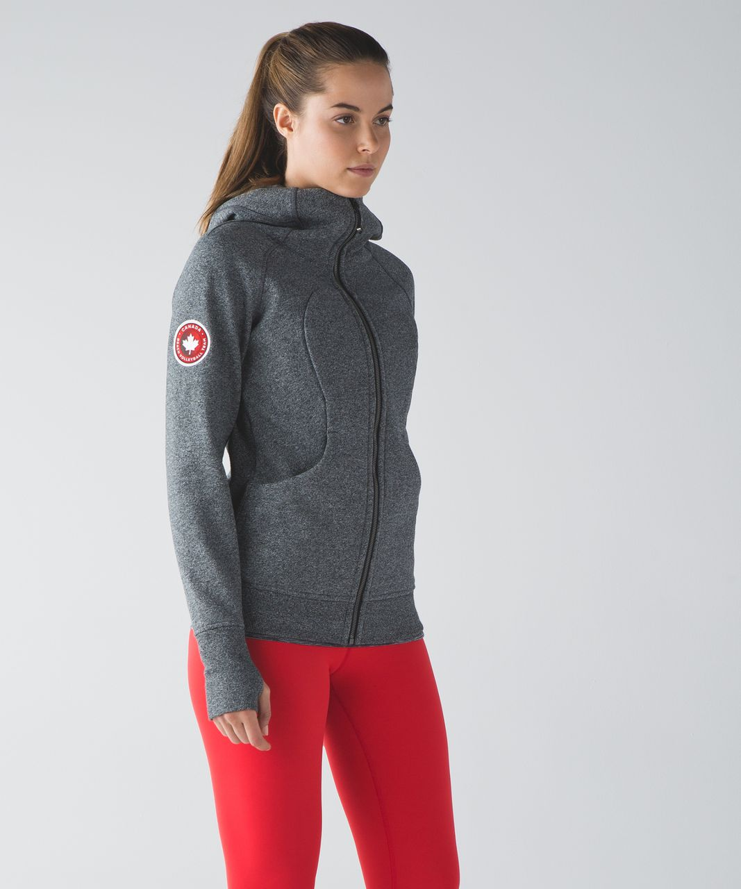 Lululemon Scuba Hoodie III (Fan Gear) - Heathered Speckled Black / Black