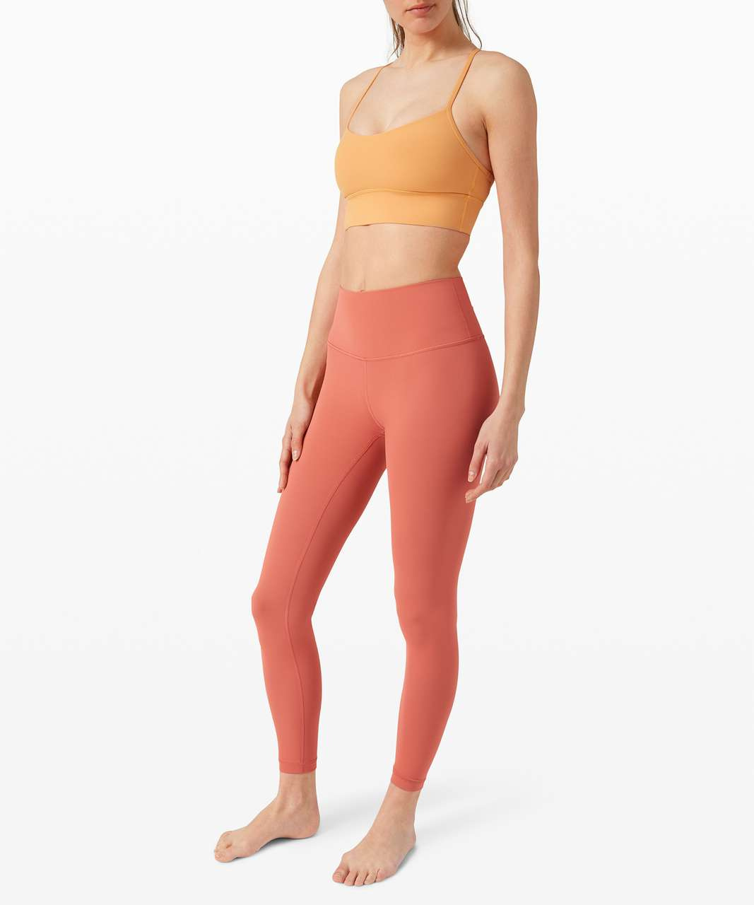 "Lululemon Wunder Under High-Rise Tight 28"" *Full-On Luxtreme - Rustic Coral"
