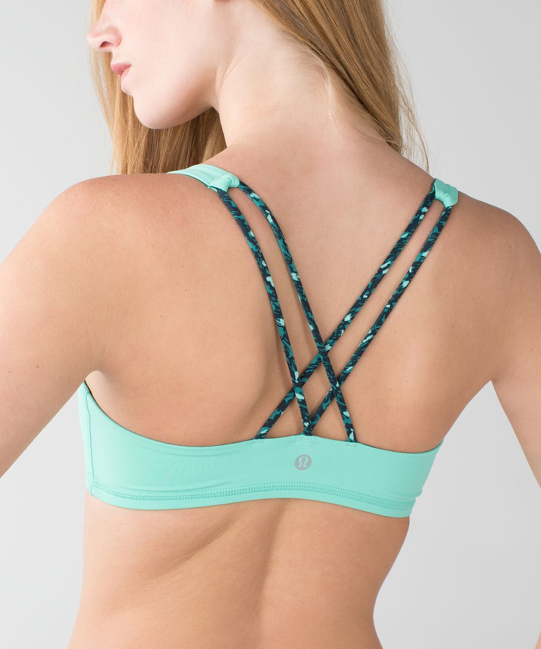 Lululemon Free To Be Bra - Menthol / Mountain Peaks Black Forage Teal / Forage Teal
