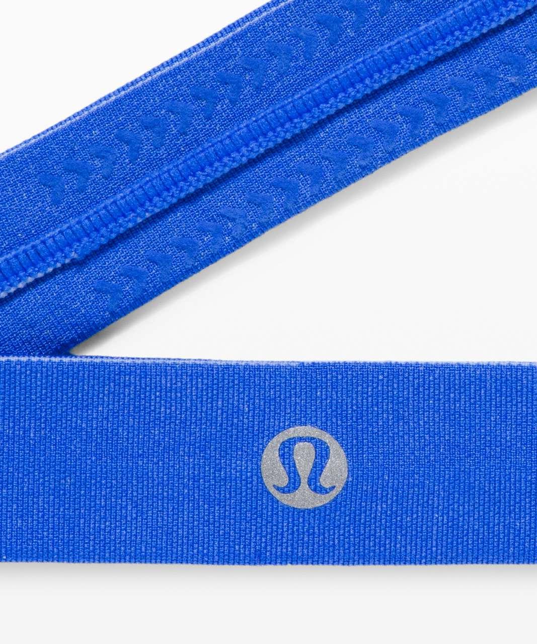 Lululemon Cardio Cross Trainer Headband - Wild Bluebell / White